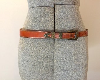Womens Leather Belt Small Western