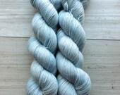 Winter Sky Posh Lace with Free Sakura Stole Pattern: hand-dyed 70/20/10 Baby Alpaca Silk Cashmere Yarn
