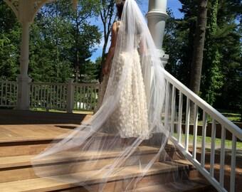 Cathedral Wedding Veil, Wedding Veils Made to Order, Waltz Length Veil, Chapel Length Veil, Royal Length Veil