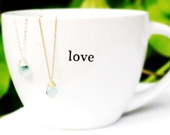 STUNNING Ocean blue Flourite drop necklace //  AMAZING AAA gemstones // Wire wrapped jewelry // Lovingly Handmade in Hawaii //