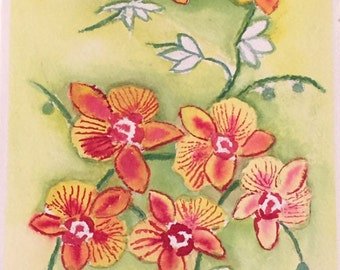 Watercolor Orchids