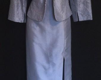 Vintage 80's PeriWinkle Blue 2 Piece Gown             VG167