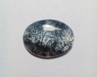 Dendritic Opal Oval Shape Cabochon