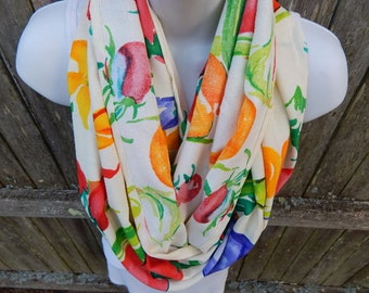 Summer Vegetables  Infinity Scarf
