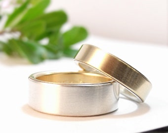 Womens Wedding Band Set Mens Wedding Ring Set Gold Wedding Band Set Mens Wedding Ring Womens Wedding Ring Silver Wedding Ring Simple Wedding