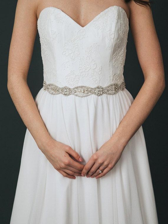 bridal belt beaded wedding sash rhinestone sash