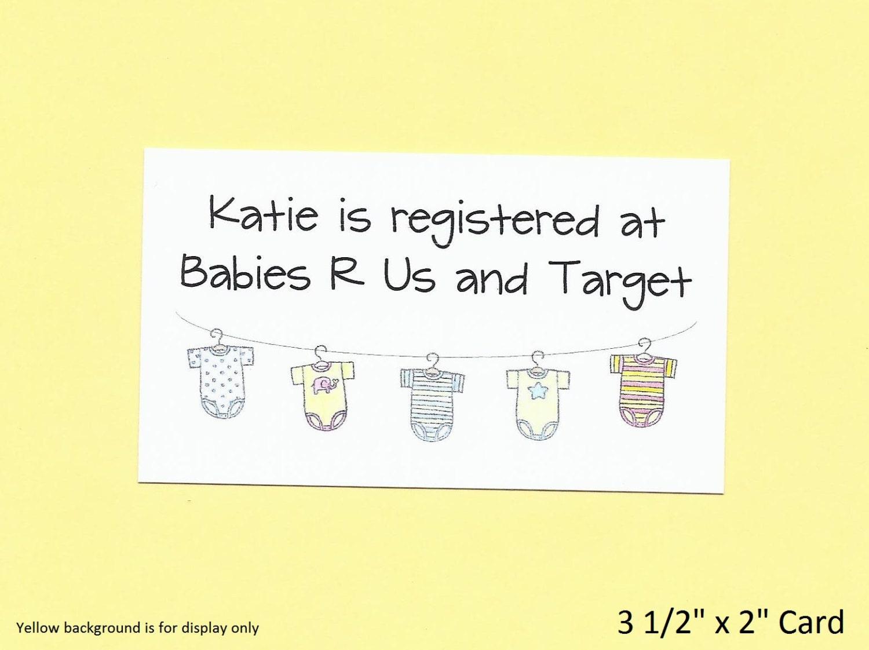 baby shower gift registry cards baby shower invitation. Black Bedroom Furniture Sets. Home Design Ideas