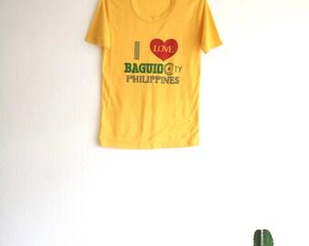 Vintage I Love Baguio Philippines T Shirt