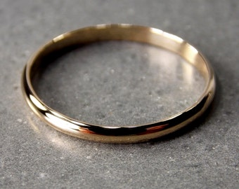 Ultra-Slim 14K Yellow Gold Band, Made to Order