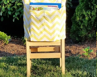 Preschool Classroom  // Seat Sacks // Storage  <<12 inch VALUE>> Yellow Chevron // Day Care // End of Year SALE // CoffeeKidsNDolls