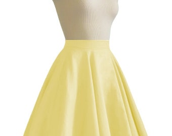 JULIETTE Yellow Rockabilly Swing Rock 'n Roll Skirt//Full Circle Yellow Skirt//Retro Mod 50s style Skirt//Party Skirt XXS-3X