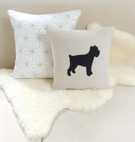 Animal Silhouette Pillow Covers : Items similar to Brussels Griffon Pillow Cover on Etsy