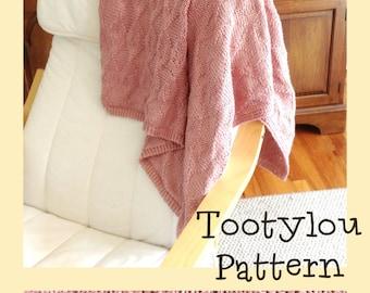 Knitted Lap Blanket Pattern, Throw, Diamond Design, Baby Blanket, Gift