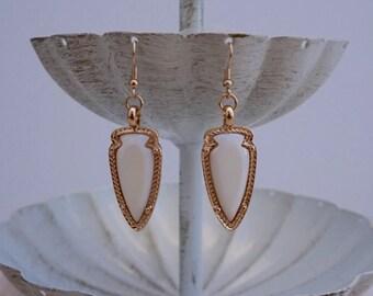 Kendra Earrings - White