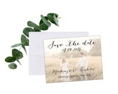 "Magnet Photo 'Save The Date' with envelopes // 5.5"" x 4.25"" Personalized Calligraphy Wedding MAGNETS"