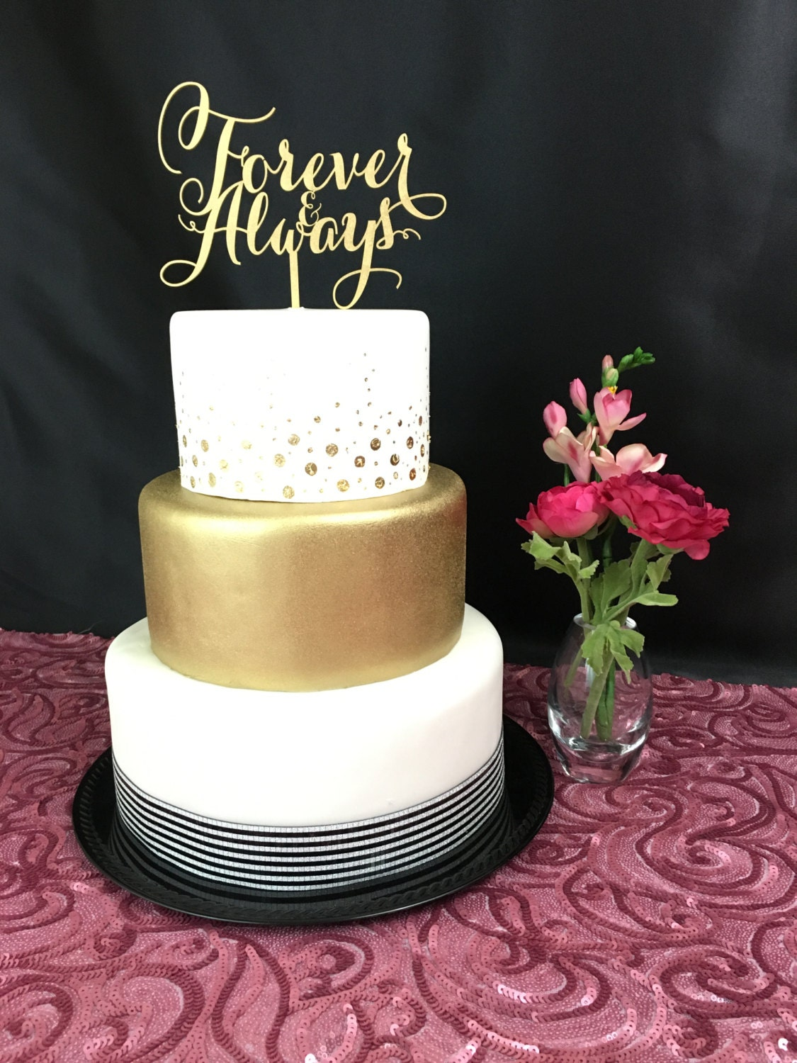 gold cake toppers for wedding cakes gold cake topper forever amp always wedding cake topper 14749