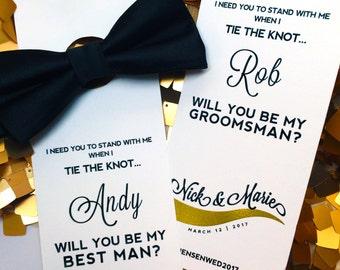 Will You be My Groomsmen Bow Ties / Asking Groomsmen Bow Ties for Wedding / Cool Groomsmen Gifts Bow Ties / Ask Groomsman Proposal Card