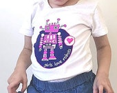 Girl Robot Shirt, Pink Robot, Girl Robot Party, Robot for Girls, Robot Party, Robot, Robot Shirt, Girls T Shirt, Girl Robot, Gift for Girl