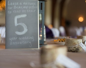 Guestbooks with Table Numbers