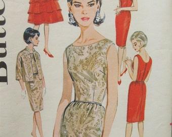 Vintage Butterick 2460 Sewing Pattern, Sheath Dress, 1960s Dress Pattern, Capelet Pattern, Jacket Pattern, 1960s Sewing Pattern, Bust 34
