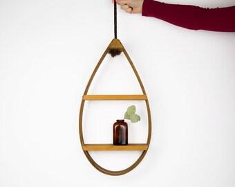 Vintage Bentwood Teardrop Hanging Planter / Boho Hanging Planter