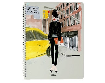 Illustrated Notebook: City Pretty {Illustrated Notebook, Fashion Notebook, spiral Journal}