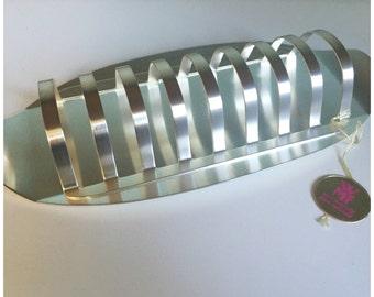 Vintage Metal Toast Holder, Letter Holder, Vintage Toast Rack, Desk Accessory, Made In Germany.