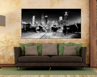 Atlanta skyline, Atlanta Art, atl, Atlanta photography, Atlanta,  Atlanta canvas, atlanta decor, Atlanta Print, Atlanta Georgia,