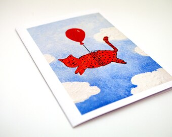 Funny goodbye card Paper goods - leaving job funny greeting card goodbye cards - funny retirement card - funny moving card - funny cat card