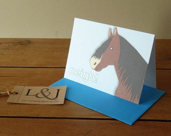 Horse Card - Pony - Horse Lover Gift - Horse Greeting Card - Horse Lovers - Equestrian - Farm Animal - Card For Daughter - Countryside Gift