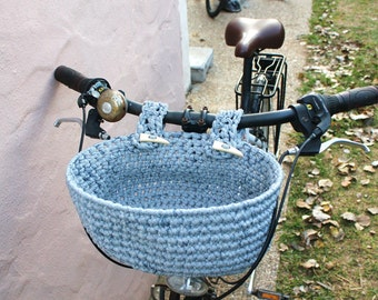 Bicycle basket. Basket for bike handlebar.