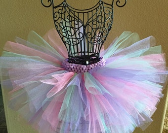 Pink and Purple Tutu, Mint Tutu, Easter Tutu, Baby Tutu, Infant Tutu, Toddler Tutu, Newborn Tutu, 1st Birthday Tutu, Dance Tutu, Pastel Tutu