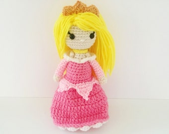 Aurora Crochet Sleeping Beauty Princess Inspired Doll
