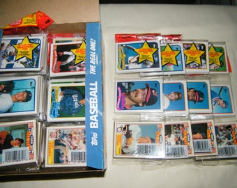 4 - 1989 Vintage Unopened TOPPS Baseball Card Rack Packs  -  FREE SHIPPING
