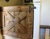 Rustic Farmhouse Barn Door Baby Gate