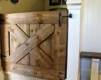 Rustic Farmhouse Barn Door Baby Gate