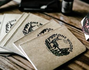 LONE WOODS JOURNAL: Handcrafted Kraft Journal