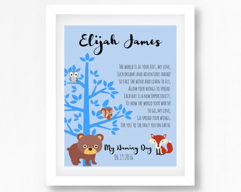 Naming Ceremony Gift, Naming Day Poem, Baby Boy Baptism Gift, Christening Gift, Personalised Naming Day Gift, Baptism Poem, New Baby Gift
