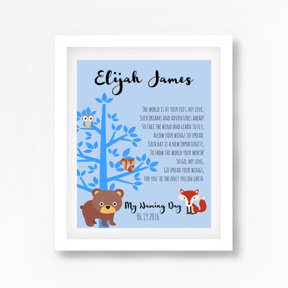 Naming Ceremony Gift Naming Day Poem Baby Boy Baptism Gift