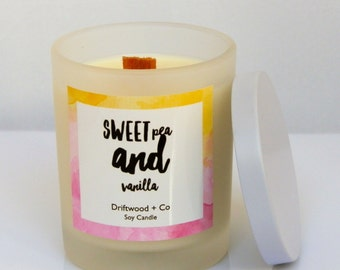 Sweet Pea + Vanilla - Soy Candle