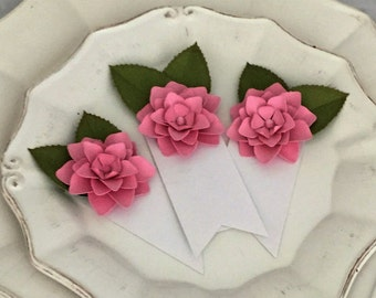 wedding  place cards name cards tags wedding table flower tags