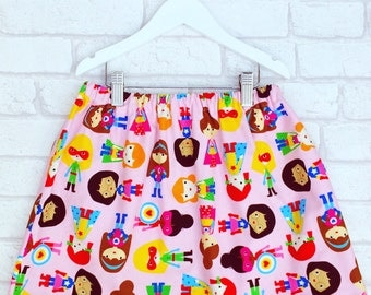 Girls Superhero Skirt, Baby Clothing, Girls Clothing, Made To Order, Handmade in the UK, Available in 0-6 years
