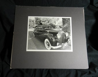Vintage Original Professional Photographer Rolls Royce Photograph on Board