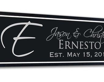 Personalized Family Name Sign carved/engraved