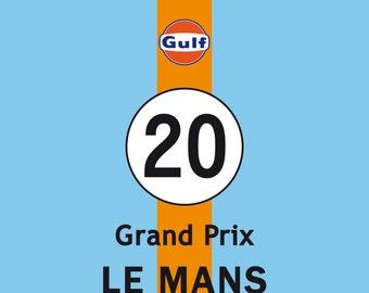 Grand Prix 24 h Le Mans Vintage Art Print Home Poster