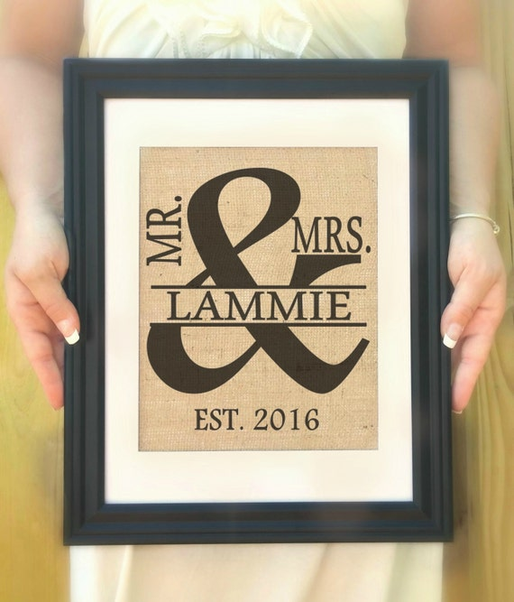 Wedding Gift Name Sign : Name Sign, Wedding Gift, Monogram Name Sign, Engagement Gift ...