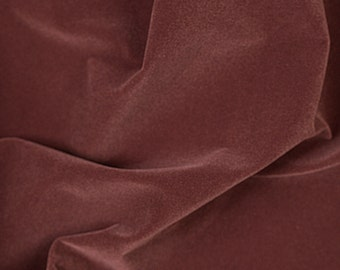 "Velvet Flocking Solid Upholstery Fabric BROWN / 58"" Wide / Sold by the yard"