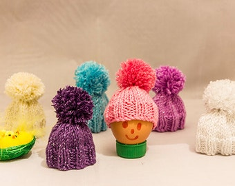 Sparkly  Egg Cosies set of 6 hand knitted, Easter Egg Cosy, egg warmers