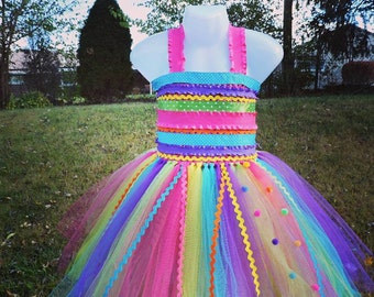 Gumball, Candy Land, Colorful Tutu Dress