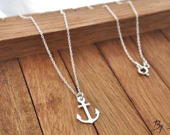 Sterling Silver anchor necklace, necklace anchor, anchor, anchor pendant, Charm anchor, anchor jewelry, stere, stere charm, stere silver